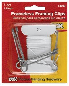 OOK Frameless Gallery Clip Kit 4 Pack