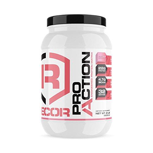 Reaction Nutrition Recor Pro Action Whey Protein, Strawberry, 2 Pound