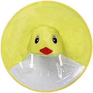 Mantello Carino per Bambini Pieghevole Impermeabile Portatile Volwco Magico Mantella per Mani libere Yelloe Duck Mantello con Cappuccio Impermeabile UFO per Bambini
