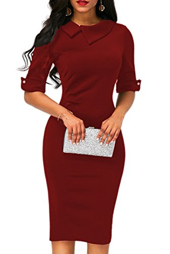 Zipper Sheath Dress - 1