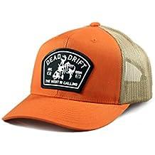 3800a5ab2ba56 Fly Fishing Hat Bucking Trout Orange Trucker Snapback Dead Drift Fly