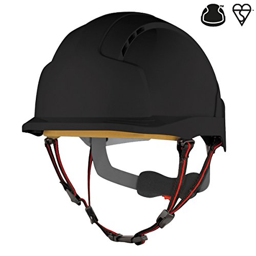 JSP AJS260-001-100 EVOLite Skyworker Industrial Climbing Helmet, Black JSP Limited