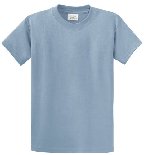 Heavyweight Cotton Shirt - Joe's USA Mens Heavyweight 6.1-Ounce, 100% Cotton T-Shirts-S StoneBlue.