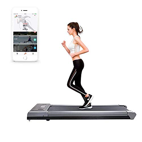 fitbill f.Walk2 Smart Under Desk Treadmill with Remote Controller and Workout App (Best Treadmill Walking Workout)