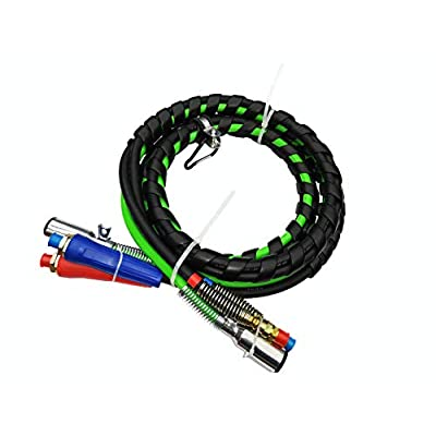 Trackon Parts 12 Ft. 3-in-1 Wrap Set, ABS Electrical & Rubber Air Line Hose Assemblies, for Semi Truck Tractor Trailer: Automotive