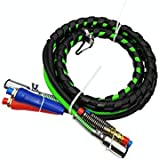Trackon Parts 12 Ft. 3-in-1 Wrap Set  ABS Electrical and Rubber Air Line Hose Assemblies  for Semi Truck Tractor Trailer