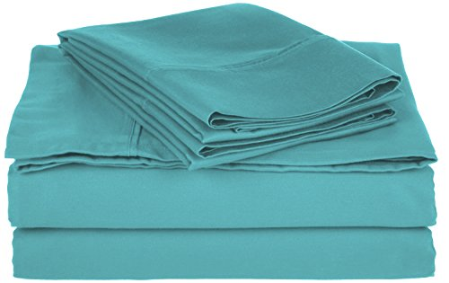 Cotton Blend 800 Thread Count , Deep Pocket, Soft, Wrinkle Resistant Queen bed Sheet Set, Solid, Teal