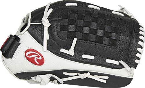 Rawlings Shut Out Series Fastpitch Softball Glove, Basket Web, 13 inch, Right Hand Throw