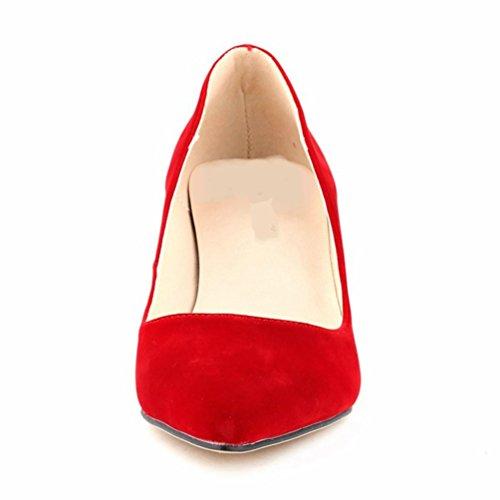 Escarpins WanYang pieds Haut Aiguille Chaussures Rouge Nu Escarpin Stiletto Sexy Pointue Femme Talon Soirée 6wwq4a