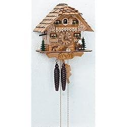 Schneider 10 Inch Wood House Black Forest Cuckoo Clock