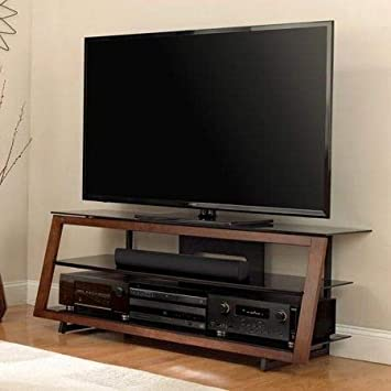Amazon Com Tv Stands Table Cabinet Medium Espresso Wood For Up To