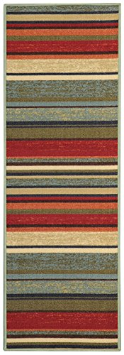 Custom Size Runner Colorful Stripes Non-Slip (Non-Skid) Rubber Back Stair Hallway Rug by Feet 26 Inch Wide Select Your Length ((: FREE COURTESY GIFT :)) (Custom Jute Rug)