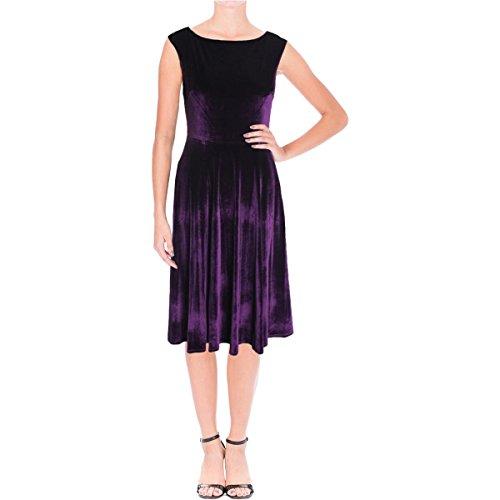 Betsey Johnson Womens Velvet Sleeveless Cocktail Dress Purple 6 - Betsey Johnson Cocktail Dresses
