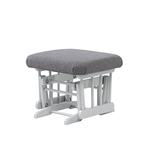 Dutailier Ottoman for Sleigh Gliders, Grey/Dark Grey by Dutailier