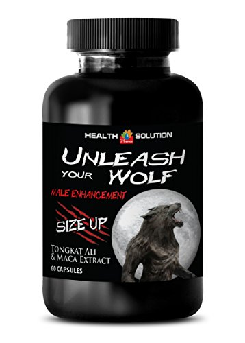 male enhancing pills erection best seller - UNLEASH YOUR WOLF - SIZE UP - MALE ENHANCEMENT - maca root - 1 Bottle (60 Capsules) by Health Solution Prime