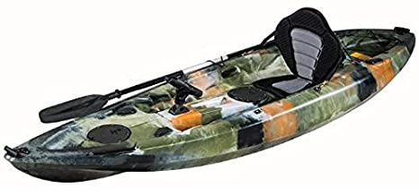 KAYAK DE PESCA 295x78x35 cm MIMETIZADO. Canoa equipada con ...