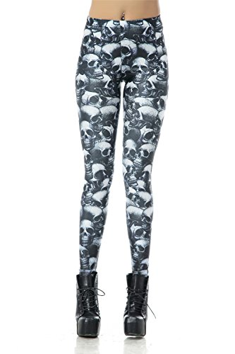 DawnRaid Graphic Printed Leggings Stretch