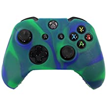 HDE Silicone Skin for Xbox One Controller Rubberized Protective Grip Case Cover for Microsoft Xbox 1 Wireless Gamepad (Marble Green\Blue)