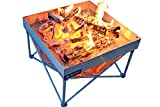 Campfire Defender Protect Preserve Pop-Up Fire Pit - Portable Outdoor Fire Pit/Fire Pan/Less Smoke - US Forest Service/B.L.M Fire Pan Compliant