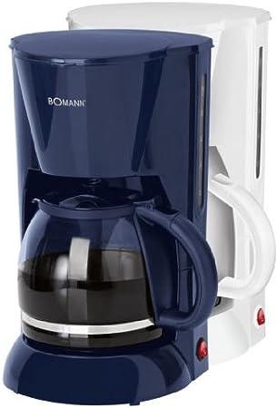 Bomann KA 1501 CB Cafetera eléctrica de goteo automática, máquina café de filtro capacidad 12 a 14 tazas, 1,5 litros, función de mantenedora calor, 900 W, color blanca, 15.5 litros, acero inoxidable: Bomann: Amazon.es: Hogar