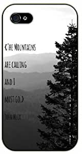The mountains are calling and I must go - John Muer - Adventurer iPhone 5 5s Black plastic case - (Row 11-B) by icecream design