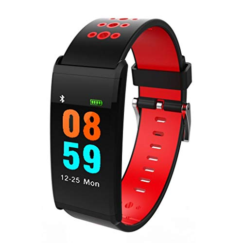 IP68 Waterproof Smart Watch, Bluetooth Smart Watch for Android iOS, Heart Rate Blood Pressure Monitor,Fitness Sports Smart Watch for Mens Women (Hot De Li Display System)