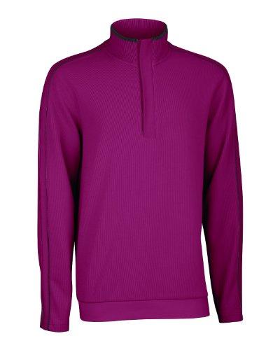 (Adidas Ashworth Men's French Rib Solid Pullover Sweater (Medium, Burgundy Red/Ash))