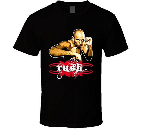 - Georges St Pierre Rush MMA T Shirt L Black