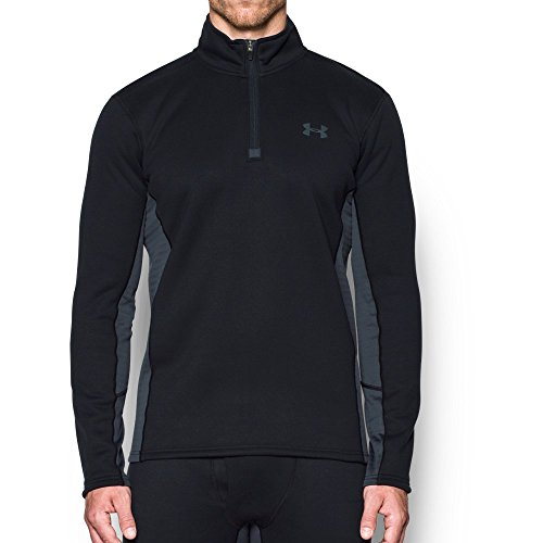 Under Armour Men's Armour Base Extreme 1/4 Zip,Black /Stealth Gray, Large