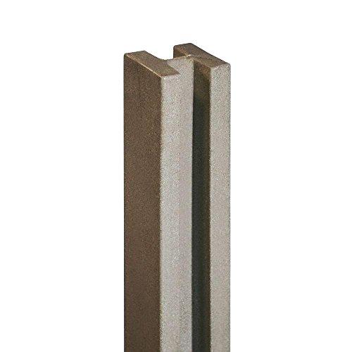 SimTek 5 in. x 5 in. x 8-1/2 ft. Brown Composite Fence Line ()