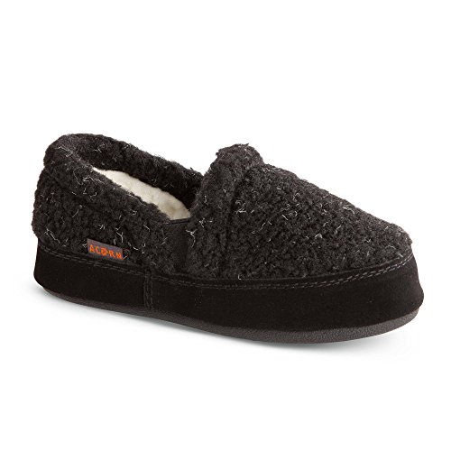 Acorn Kids Colby Gore Moc Slippers Black Berber 1-2 & Oxy Cleaner Bundle ()
