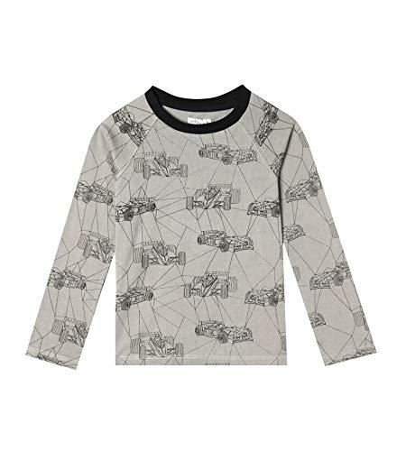 art & eden Boy's 100% Organic Cotton Raglan Long Sleeve T-Shirt - Infant Boys Long Sleeve Race