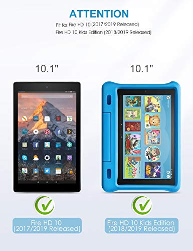 [2-Pack] Screen Protector for Fire HD 10, SPARIN 9H HardnessTempered Glass Screen Protector for All-New Fire HD 10 (9th / 7th, 2019/2017 Released) and Fire HD 10 Kids Edition