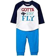 Gymboree Baby Boys Long Sleeve Set, Fly Blue, 6-12 Mo