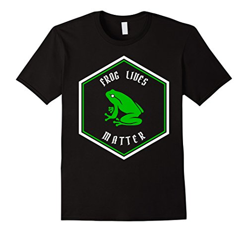 Mens Animal Lover Green Frog Lives Matter Save The Frogs ...