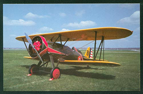 Boeing P-12 Biplane Pre WWII American Fighter Airplane Postcard