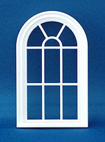 Melody Jane Dollhouse Miniature White Plastic Victorian Arched Window Frame 1:24 - Arched Window Victorian