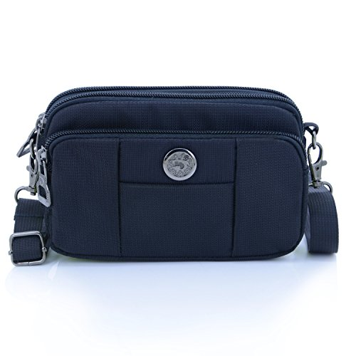 liangdongshop 3 Way Water Resistant Horizontal 5.5 inch Cell Phone Holder Belt Waist Pack Shoulder - Warehouse Coupon Sunglasses