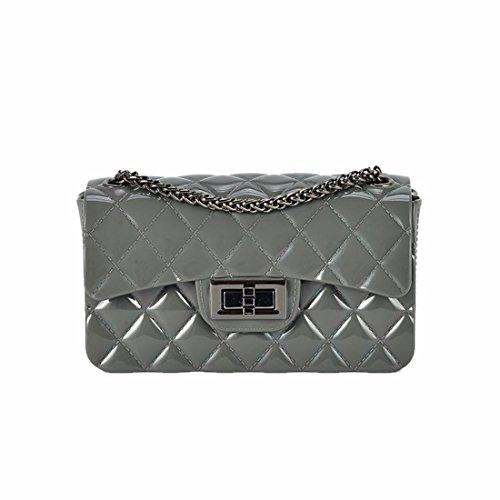 Carta opaca per sacchetto in chiffon jelly bag sacca catena mini borsa messenger bag, grigio