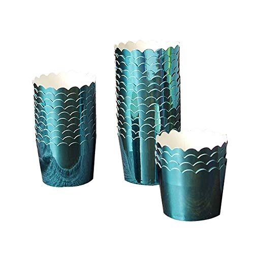 50 Pcs Paper Cupcake Liners Baking Cups, Holiday/Parties/Wedding/Anniversary(Bule)]()