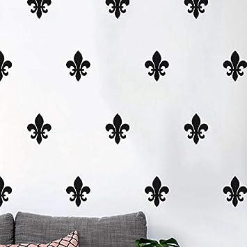 Floral de la flor de lis tatuajes de pared estilo francés arte ...
