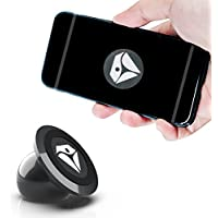 Diamond Active Universal Magnetic Phone & GPS Mount for the Car, Home or Office | Stylish Black Chrome | Compatible with Light Tablets