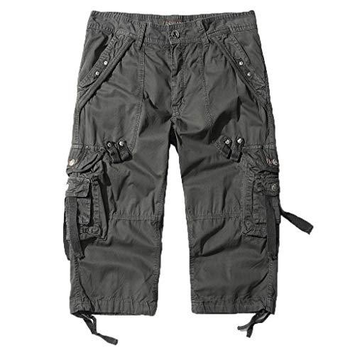 Men,Summer Loose Fit Cargo Shorts Camo Multi Pockets Summer Outdoor Wear Beach Work Casual Pants ()