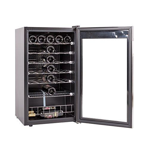 SMETA 35 Bottles Freestanding Wine Cellar Compressor Wine Cabinet Beverage Wine Cooler,Stainless Steel For Sale