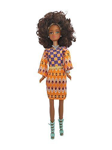 Search : Queens of Africa Black Doll - WURAOLA (Curly/Natural Hair) Black Barbie Doll - High Quality Authentic African American Girl Doll For Kids