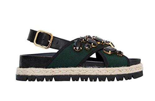 Les chaussures de muffin de boucle de fausse pierre de sandales épaisses femelles croisent avec des chaussures plates anti-dérapantes MWDchRe
