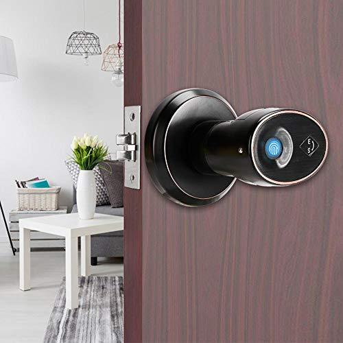 Fingerprint Door Lock, Smart Fingerprint Mechanical Key Interior Door Lock for Home Office Security