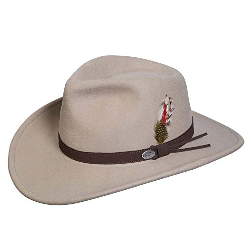 (Conner Hats Men's Aussie Wool Crusher Hat, Putty,)