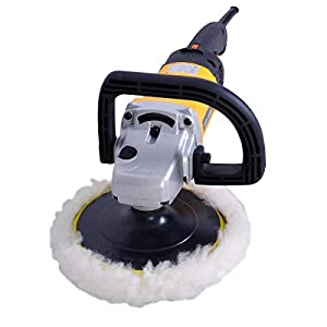 "Goplus 7"" Electric Car Polisher Variable 6-speed Buffer & Sander w/ Bonnet Pad"