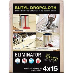 Trimaco LLC Trimaco 80328 4' x 15' Eliminator Drop Cloth - 12ct. Case